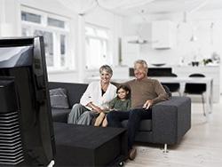 家族と同じ音量でテレビを楽しめます。